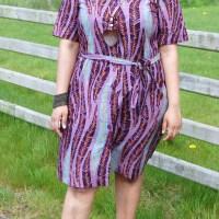 Simplicity 8014: DIY Vlisco African Wax Print Shirt Dress and Vogue Patterns Magazine Star Blogger