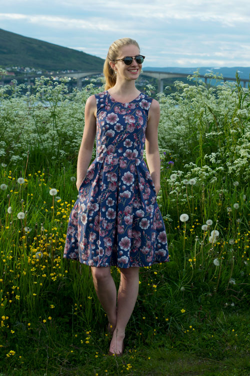 Sew Mariefleur Lila-Lotta Lil Luxe Mingo and Grace Dress