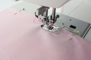 SMS sewing project and pattern step by step pale pink fabric and measurements