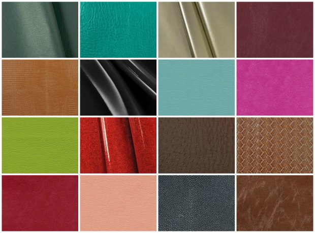 Examples of faux leathers from Online Fabric Store.