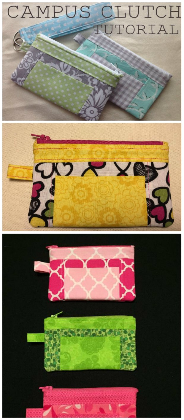 This little wristlet clutch bag is just what I need for a night out. It's a free sewing pattern, and I've been making them as gifts too. Everyone loves this little bag!