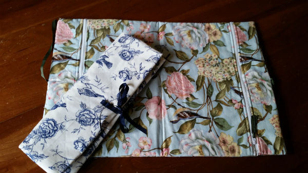 A lingerie bag to sew for travelling. Keep your undies safe from snags in your case, or use one side for clean, the other for worn. I also use one of these for my flip flops too.