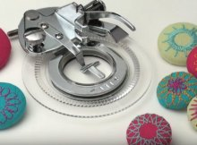 Flower stitch presser foot creates amazing embroidery on regular sewing machines. Less than$5! I need this now.