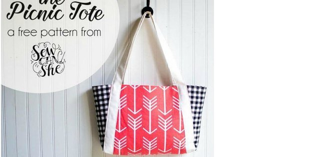 Picnic Tote Bag - free - Sew Modern Bags