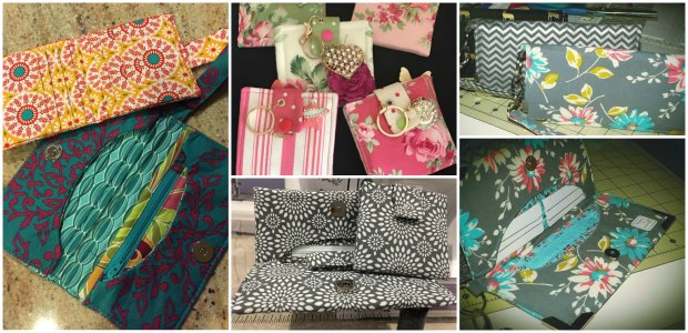 Sewing Wallets. Student class project examples.