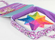 Amethyst project organiser case sewing pattern. This bag features ample storage space for any project or hobby – quilting, drawing, hand-sewing, and so much more!