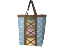 This beautiful Country Tote Bag is available with a FREE pdf downloadable pattern. Ideal for quilters, this bag is great for your smaller pieces of fabric left over from other projects. Quilt the outside too for added strength and a country cottage feel. This roomy bag is great for general knock-around hauling, or for taking to the local farmers market, while the six outer pockets on each side keep small items organized.
