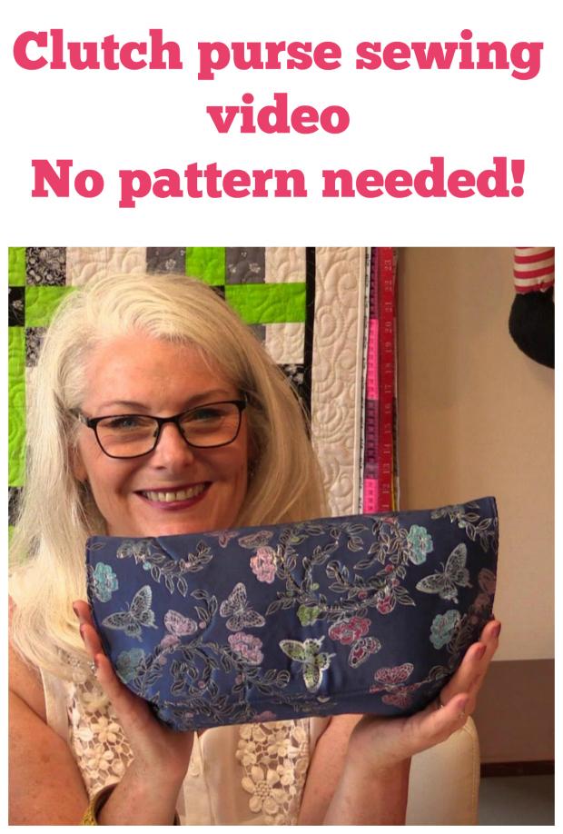 Sew a designer style clutch bag - free + video - Sew Modern Bags