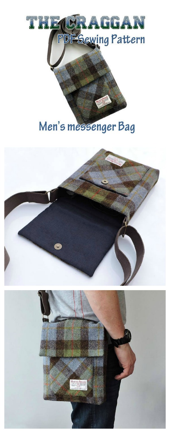 Mens messenger bag sewing pattern sew modern bags the craggan mens messenger bag sewing pattern this pattern shows you how to easily make jeuxipadfo Choice Image