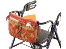 Wheelchair & Walker Carryall & Carrier Bag Sewing Pattern. These bags are great for gift giving and can be made in your loved one's favorite colors!