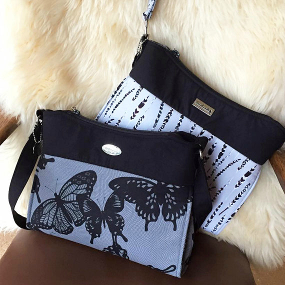 """The Gabby Bag is a shoulder bag/purse which features exterior & interior zipper pockets, as well as an interior double slip pocket. It has a single shoulder strap that is approximately 34"""" long, but you can lengthen or shorten it to suit your own style."""
