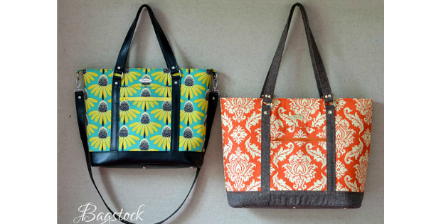 Bluebell Tote and Handbag sewing pattern - Sew Modern Bags