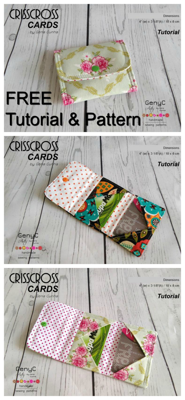 Crisscross card wallet - FREE sewing pattern - Sew Modern Bags
