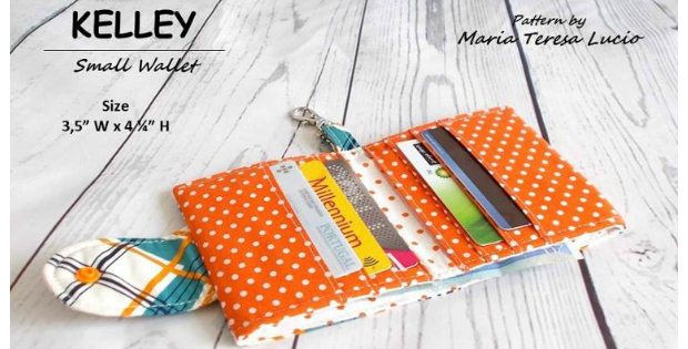 Kelley small card wallet sewing pattern - perfect for women and men ...