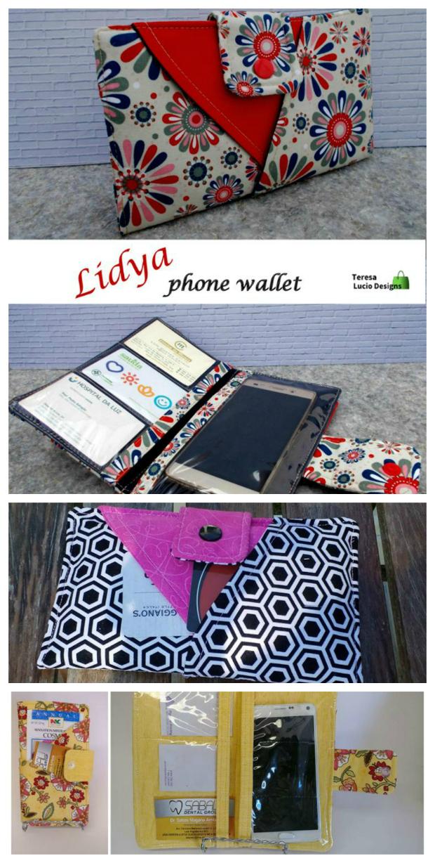 Lydya phone wallet sewing pattern - Sew Modern Bags
