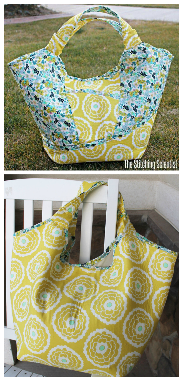 Here's another FREE pdf pattern, this time it makes a cute summer beach bag - The Carnaby Carry All bag. This is a great big bag that can hold your large beach towel, sunscreen, your phone and everything else you want to take to the beach this summer.