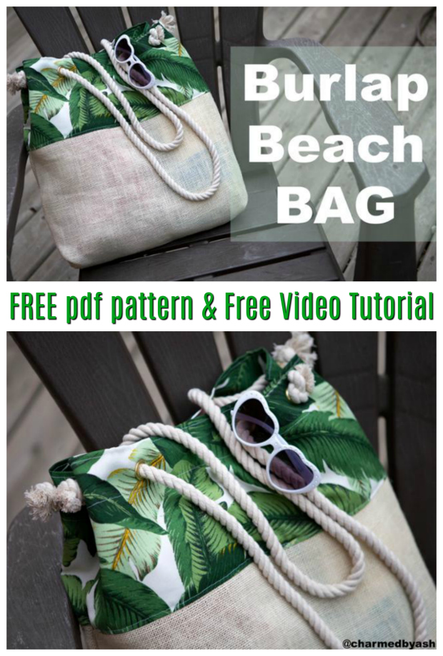 The Burlap Bottom beach bag is a great bag for you to take to the beach. As well as being a beach bag that holds everything you'll need to take to the beach it also comes with an inside pocket for those important things such as cell phones, money and other small items you don't want to get sandy or wet. Please note that this is a one layer bag with no lining.