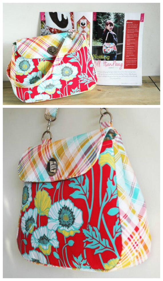 You can make this eye-catching bag from bright statement fabrics or tone it down to suit your taste. Whatever fabric you choose, you're sure to love this classy handbag. It boasts a collapsible gusset, which expands out to full depth when you need some extra space, and the metal twist/turn lock adds a nice professional finish.