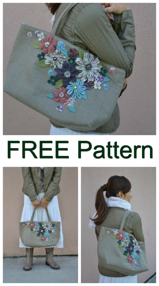 """If you love the idea of a basket style handbag then we have a beauty here for you. And as an added bonus the pattern and tutorial for the """"She Carries Flowers Purse"""" is entirely FREE."""