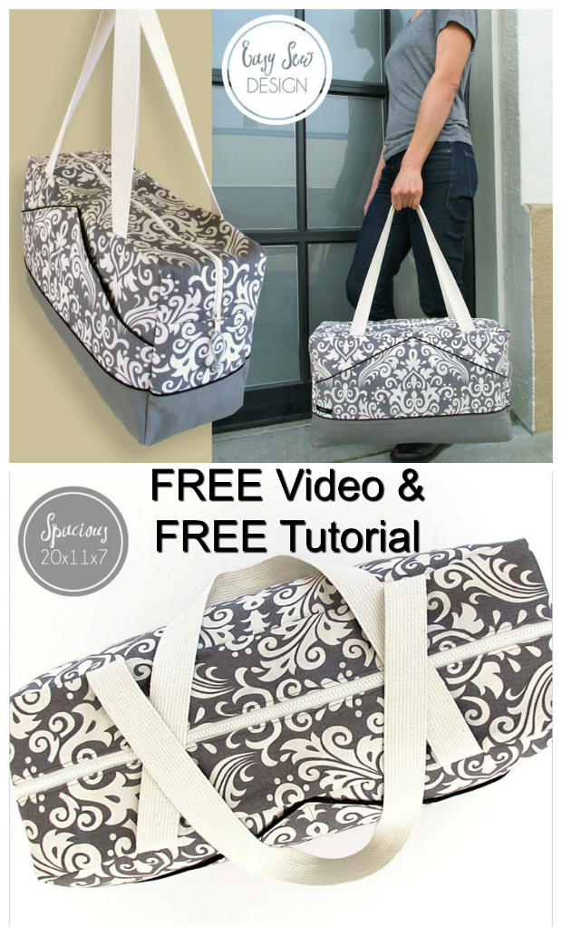 Sew Modern Bags brings you another FREE sewing pattern, this time it's a Perfect Damask Duffle Bag from one of our favourite bag designers.