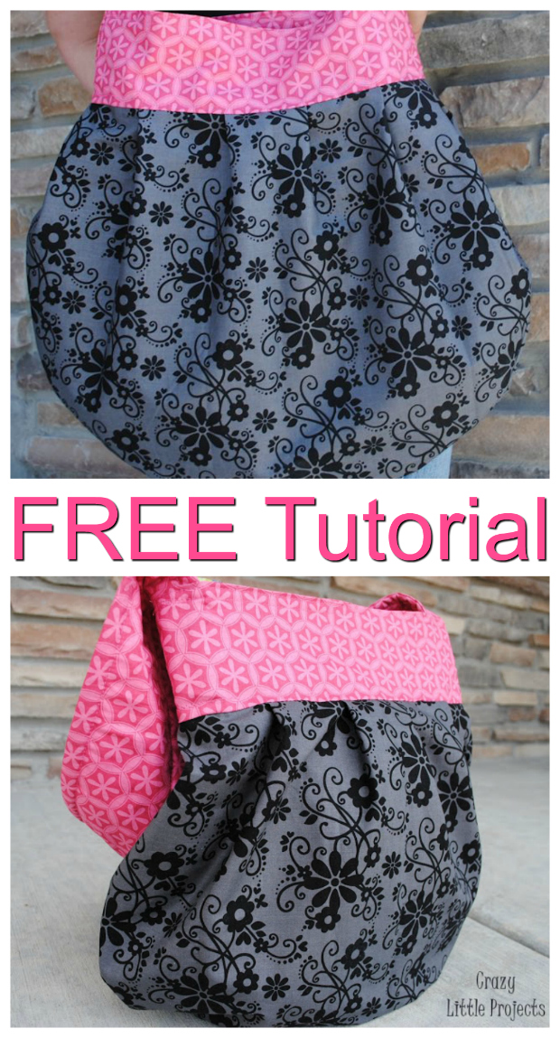 Here's a FREE pattern and a tutorial for this Sling Tote Purse.