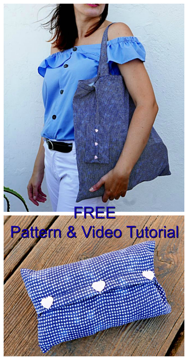 When we all go shopping we should do our utmost to resist using plastic bags handed out by the shop. Plastic was an incredible invention but it is doing untold damage to our oceans etc. Here you have a FREE Pattern and Video Tutorial showing you how to make a Foldable Reusable Shopping Bag. The bag folds down so that it will fit into the cover so that you can store it in your main purse/bag. The bag has four handles to carry it in the hand or hang it on your shoulder. The bag is easy to make and is perfect for the beginner sewer. The patternhas been translated into both English and Spanish.