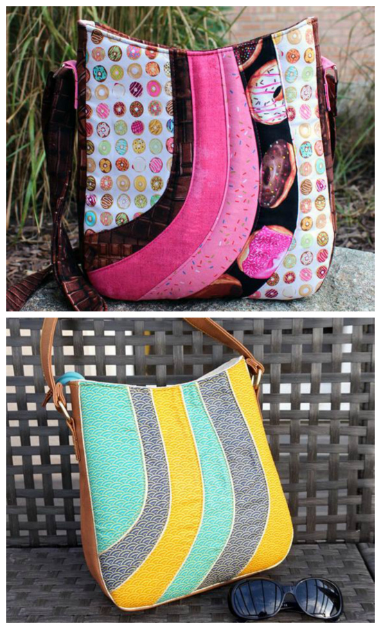 This is an easy to follow sewing pattern which will allow you to create an awesome looking tote bag. It actually looks far more complicated than it really is. The Shades of Yesterday Tote Bag has a distinct look on the outer front panel. It's constructed with a series of beautifully curved pieces. You just have to choose whether to work with a collection of coordinating or contrasting fabrics.
