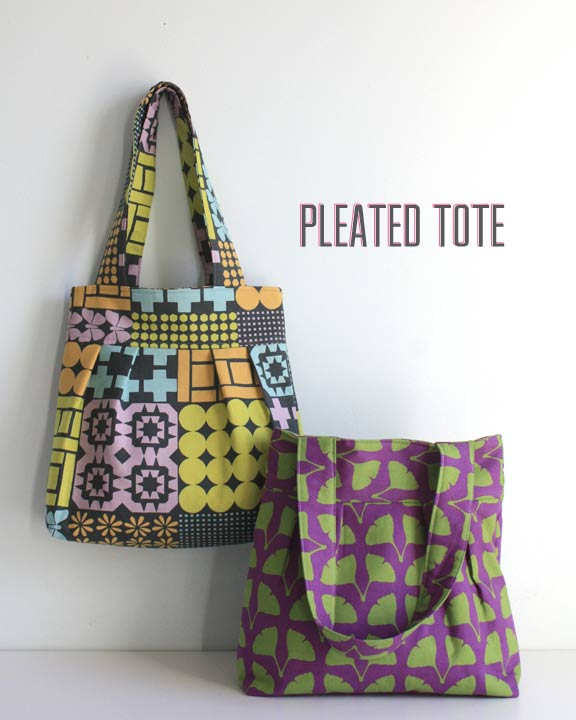 Adding some pleating to a Tote Bag really gives it some character. Here is a FREE pattern and tutorial for a simple pleated tote purse.