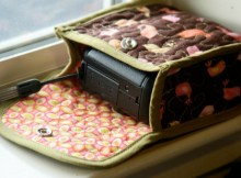 Here is a great tutorial on how to make a cute little quilted Cozy Camera Case for your point and shoot camera. This one fits a camera that is 4.3″ by 3.0″ by 1.8″, so will fit any camera up to that size, or smaller. You can also adjust the size of the pieces very easily to make a case for a larger or smaller camera.