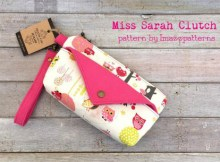 Miss Sarah is a small size bag suitable for carrying cosmetics and small items like keys and stationery. The front pocket comes with a cute flap and can store tissue papers or notes safely. The zippered compartment is safe and spacious enough for a handphone and compact powder.
