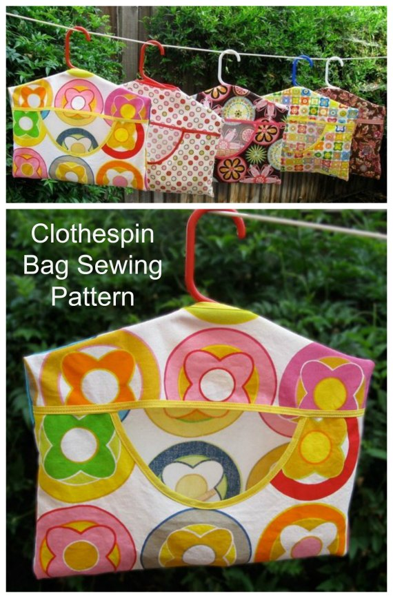This sewing pattern tutorial teaches you how to sew a clothespin bag that keeps your clothes pins at hand as you hang your special clothes out to dry. It hangs right on your clothesline with a standard child's tubular hanger. You will be able to make the bag in one of two sizes - a 50-pin carrier and a 100-pin carrier, and of course whichever one you make they are both quick and easy to make.