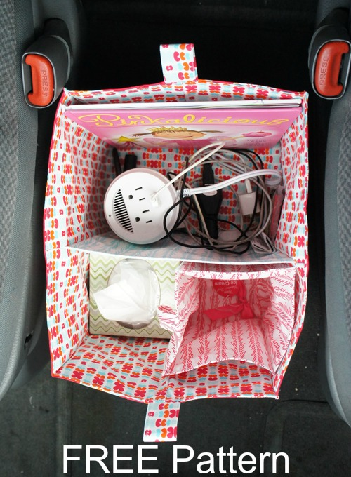 Here's your chance to bring organisation to your vehicle. We've all seen cars that are in desperate need of a place to put all that stuff that we carry around in our cars. The designer of this pattern has given you a FREE pattern and tutorial to sew a Divided Organizer Tote Bucket that you can place between your seats or in the footwell of one of the seats so that you can organise all your stuff.