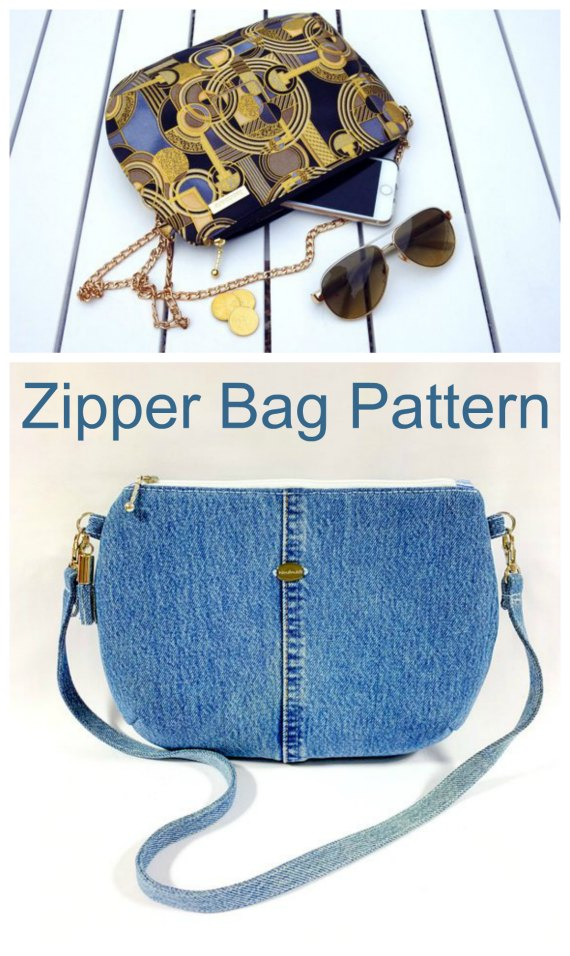 How nice a bag is this one? The interior of the Beijing Bag has a zipper pocket and slip pockets for all your essentials. This is an excellent pattern for a beginner bag maker.