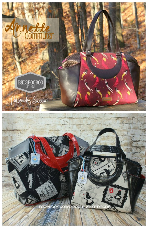 Swoon patterns knocks it out the park again (in our opinion) with the Annette Purse sewing pattern. Perfect for all occasions, this Satchel Handbag and Commuter Tote are as stylish as they are practical. With a sleek and classic look, this bag features handles, a removable shoulder strap, two exterior pockets and one zippered pocket. Instructions are included for vinyl and woven fabrics, as well as pattern pieces for two bag sizes. Make this gorgeous bag in a smaller handbag size, or the larger commuter tote - two patterns in one!