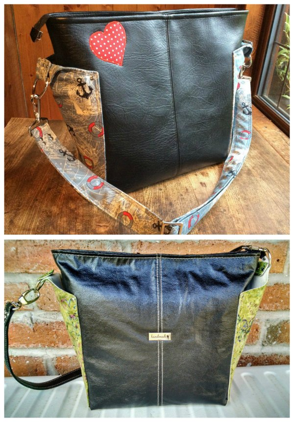"""Here's a great looking classy bag called The Ellen's Esplanade Cross Body Bag. This designer has produced a number of projects which are in her words """"Rated Easy Street"""" meaning they are a quick and easy bag project. The Ellen's Esplanade Cross Body Bag features two handy exterior side slip pockets for your phone and keys with the main compartment closing with a recessed zipper. Inside you will find a spacious interior which includes a zipper pocket."""