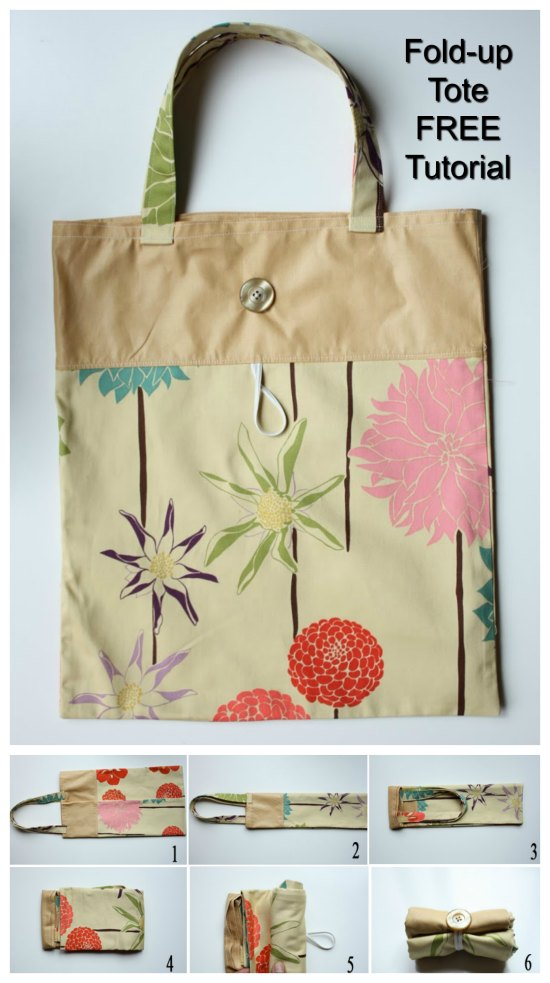 The designer of this tutorial brings you her Fold-Up Tote Bag tutorial FREE of charge. This is a simple project for a beginner sewer with the added bonus of being a stash buster! This cute little tote bags main use is as a reusable bag.