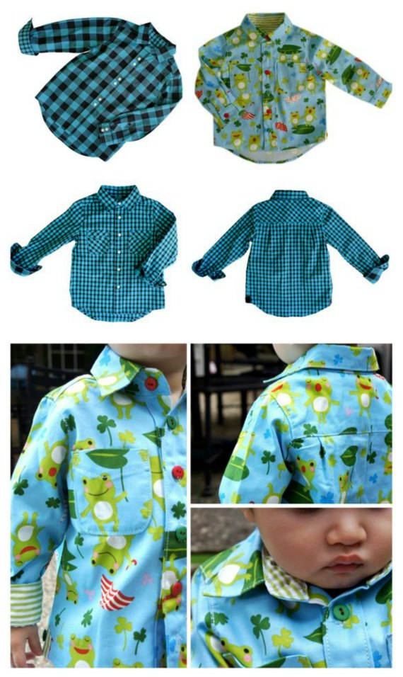 "This classic button-down shirt for boys is an Etsy ""Best Seller"" pattern. This super cool and urban-inspired classic button-down shirt is a real gem."
