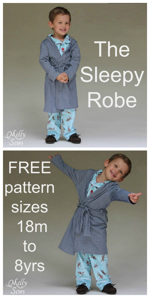 This is another great designer who takes lots of time when producing her patterns and someone who really takes pride in producing an awesome set of photos to properly show off her project. This is the Sleepy Robe pattern that is really great as it is both quick and easy to sew and looks fantastic. The Sleepy Robe can be made in pretty much any fabric like knits, woven, fleece etc.