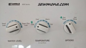 Mark the Settings on Washer