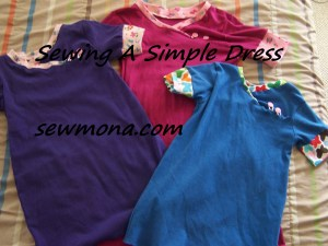 Sewing A Simple Dress with Kids