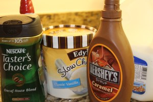 Caramel Frappe Ingredients