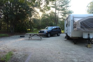 The camp sites are huge are Silver Springs State Park