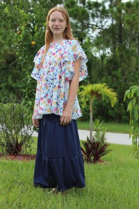 Tiered Skirt, Chloe Pattern Hack