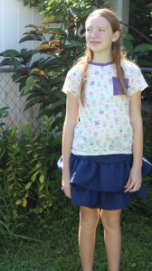 A simple stacey top and skipper skirt.