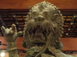 Scary lion