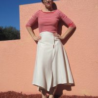 Organic Reversible Wrap Skirt