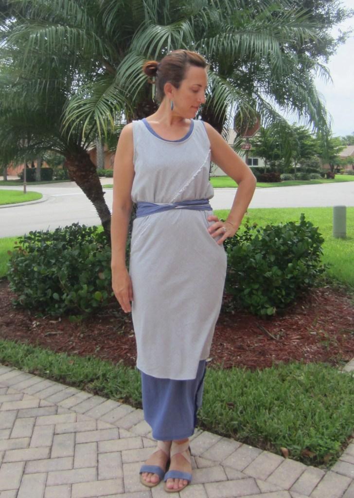 Indigo and Mini Stripe Voile Bias Dresses