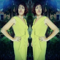 Chartreuse Donna Karan Vogue V1489