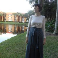 Work Wardrobe: Apollo Gray Selvedge Wrap Culottes