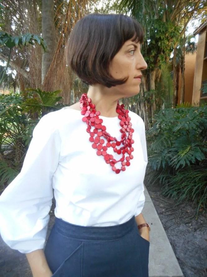 Work Wardrobe: Lantern Sleeve Blouse and Denim Culottes